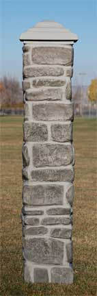 Faux Stone Pillar Gray