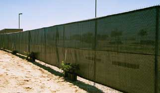 96 Closed Privacy Windscreening