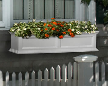 48 inch white window box
