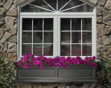 60 inch black window box