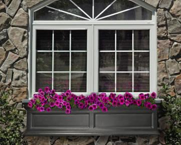 60 inch black window box