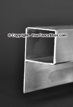 Aluminum P Channel for Railing Systems